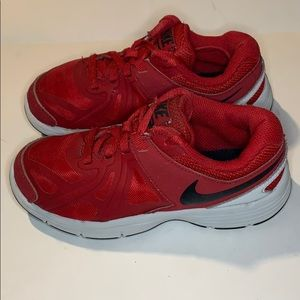 Nike size 11.5 boys red sneakers